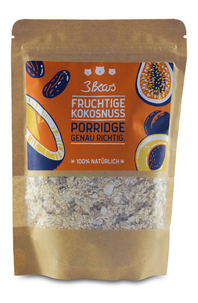 "Porridge ""Fruchtige Kokosnuss"" 3 Bears"