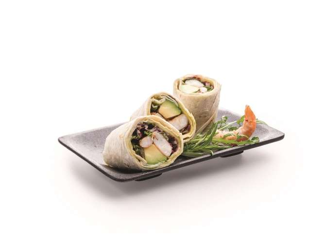 Wrap, Avocado, Garnele