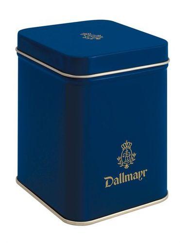 Teedose leer, dunkelblau Dallmayr Logo, Inhalt 250g