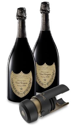 2x 2008 Dom Perignon Vintage brut + gratis Verschluss