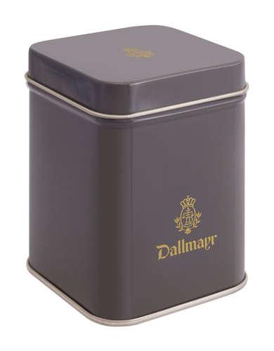 Teedose leer, dunkelgrau Dallmayr Logo, Inhalt 50g