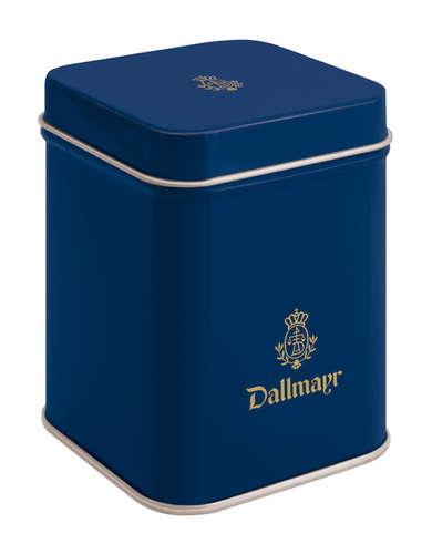 Teedose leer, dunkelblau Dallmayr Logo, Inhalt 50g
