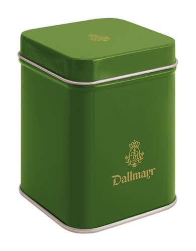 Teedose leer, dunkelgrün Dallmayr Logo, Inhalt 50g