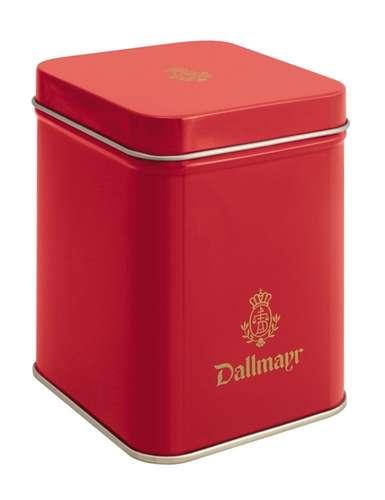 Teedose leer, rot Dallmayr Logo, Inhalt 50g