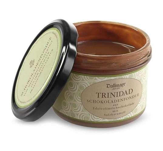 Schokoladenfondue Trinidad mit Salzkaramell