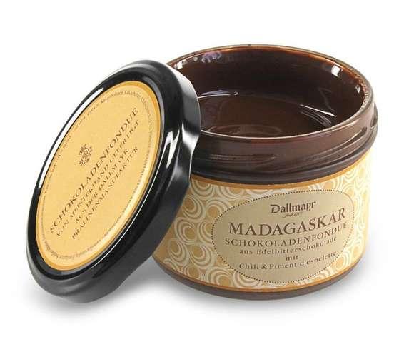 Schokoladenfondue Madagaskar mit Chili + Piment d'Espelette