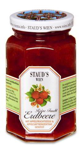 Erdbeerkonfitüre mit Apfelsaft gesüßt ohne Zucker