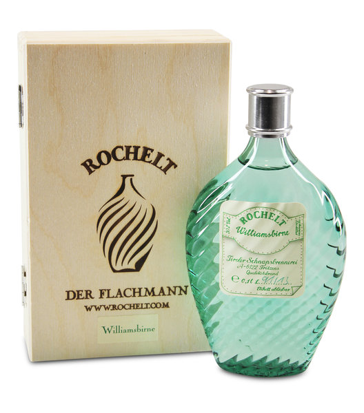 Rochelt Williamsbirne Glasflachmann