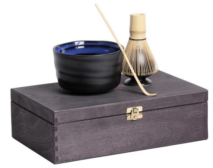 matcha geschenk set in schwarzer holzbox dallmayr seit 1700. Black Bedroom Furniture Sets. Home Design Ideas
